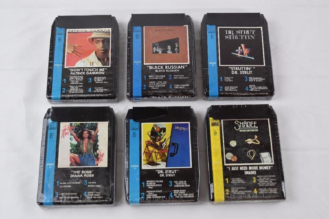 Six Motown / Tamia Artist 8 Track Cassette Cartridge