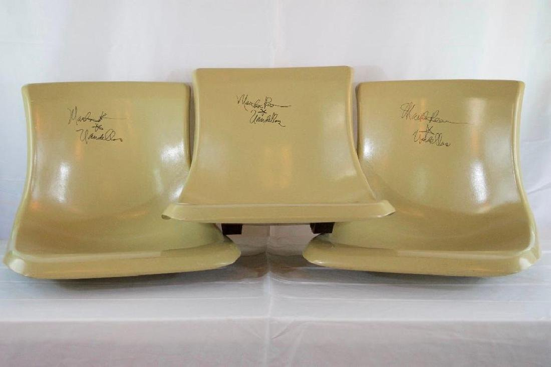 3 Signed Martha Reeves Brunswick Bowling Alley Seats