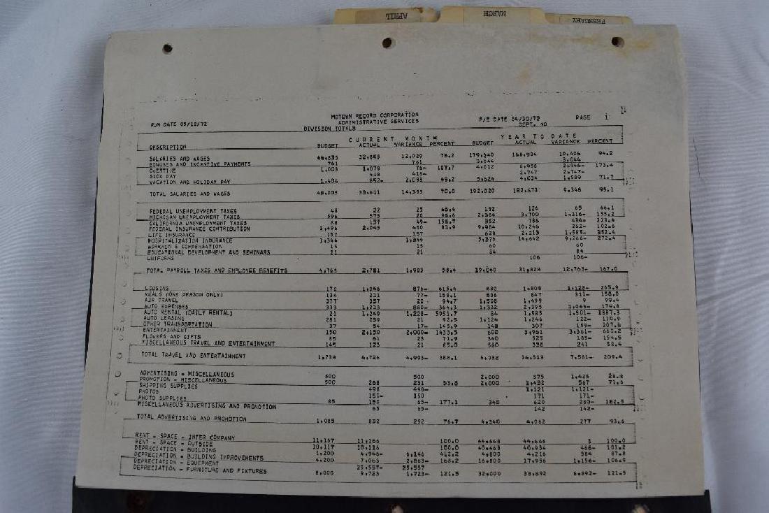 1972 Motown Record Corp Administrative Records.