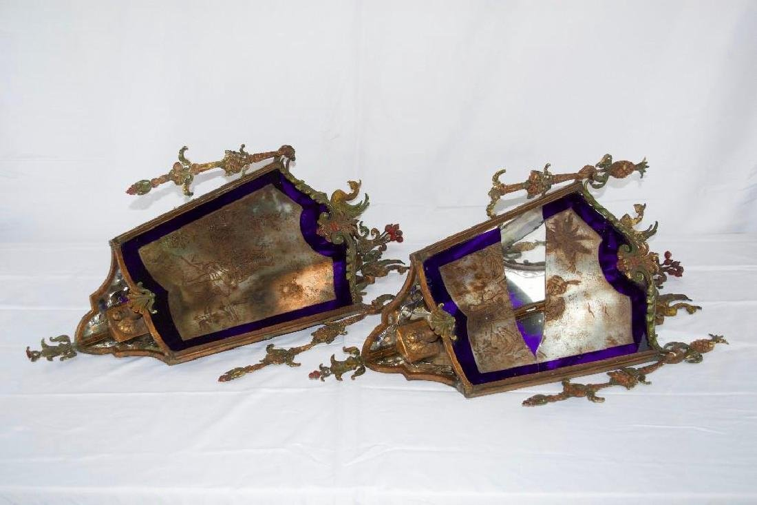 Amazing Pair of Antique Corner Wall Sconces