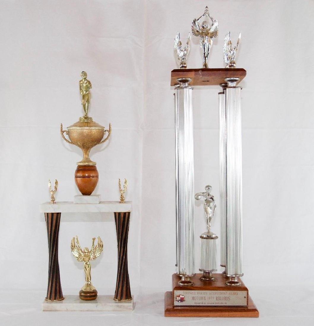 Two Vintage MOTOWN Bowling Trophies
