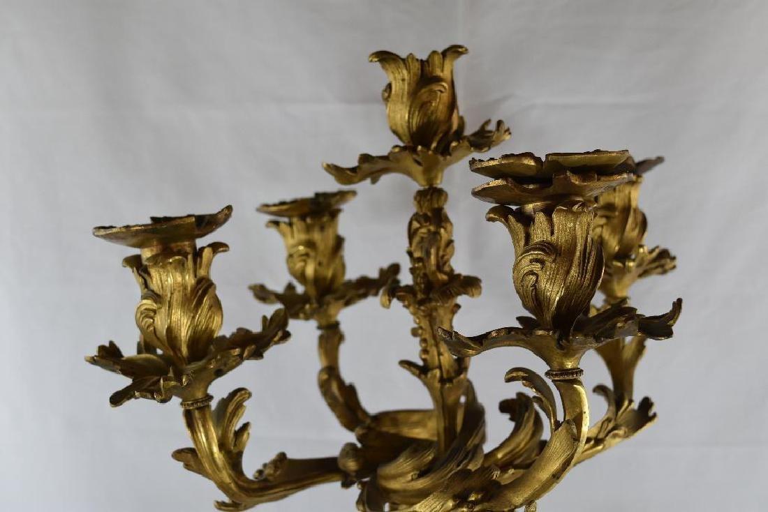 Antique Cherub Gilt Bronze Candelabra - 3