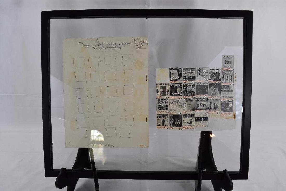 Design for Inside Cover Hand Drawn Tamla Motown Gordy
