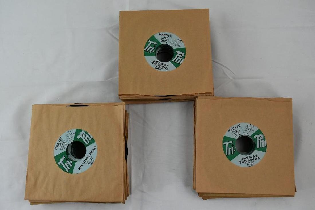 45 Records. Tri-Phi Tracks: She Loves Me Harvey NOS - 2