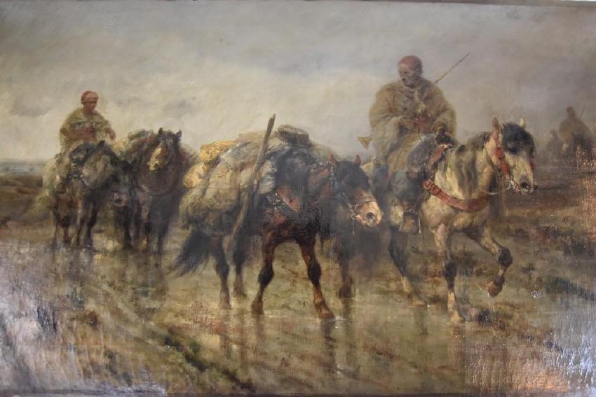 Adolf Schreyer (German, 1828-1899), Oil On Canvas