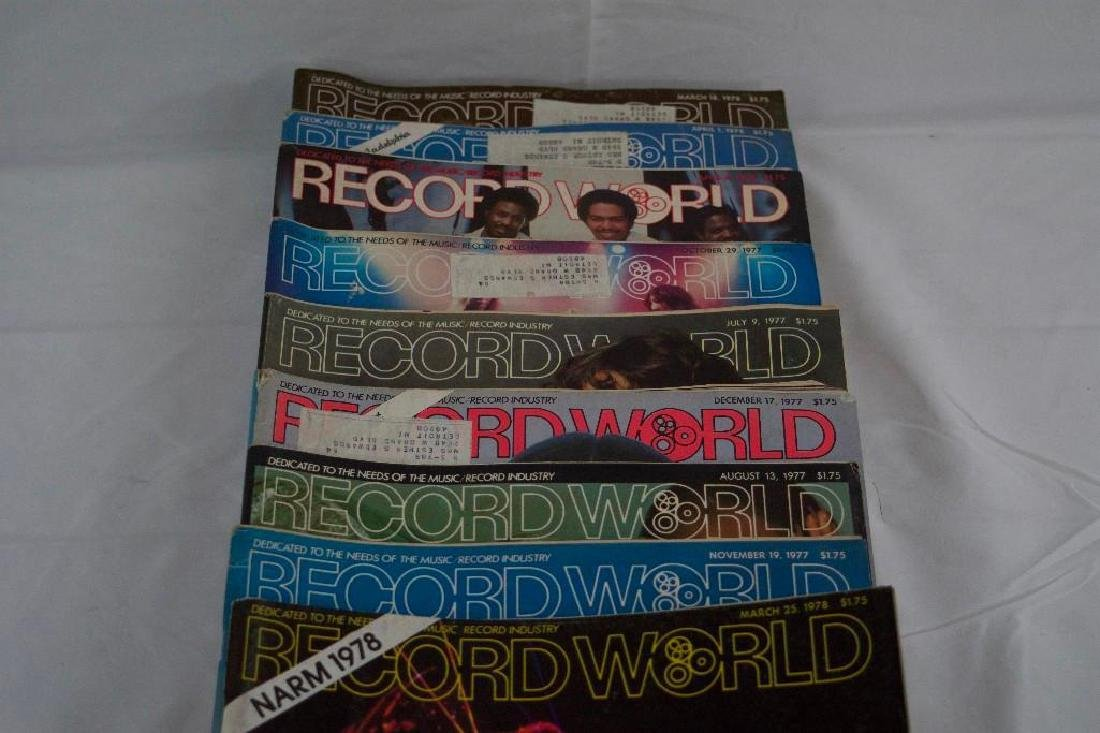 Eight 1970s RECORD WORLD Magazines (MOTOWN) - 3