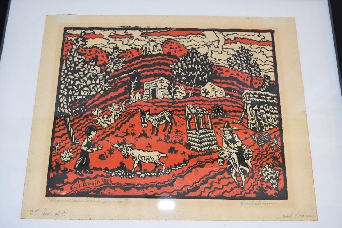 Mountain Farm Santa Fe 1927  Emil Armin Wood Block - 4