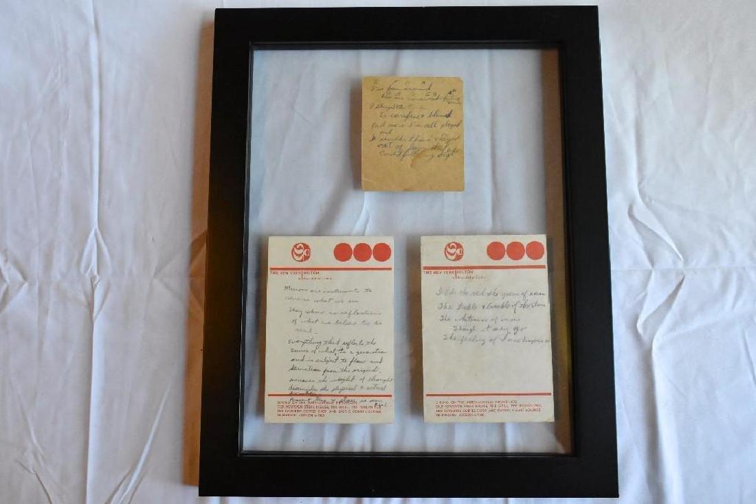 Hand Written Lyrics and Notations