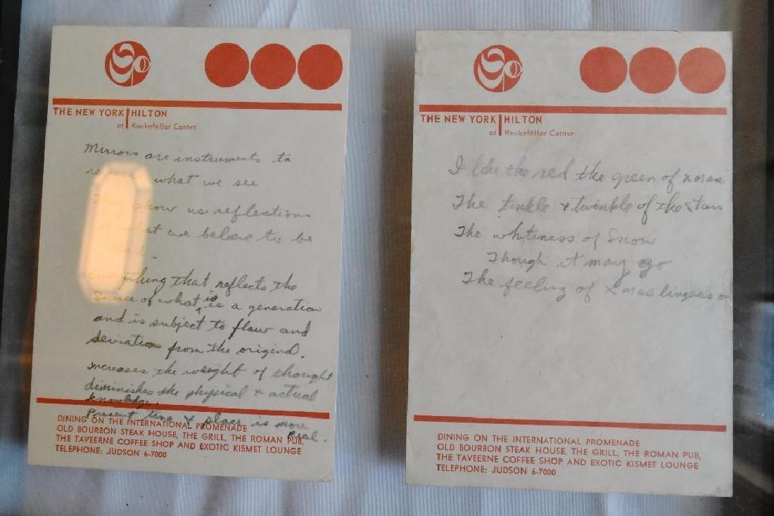 Hand Written Lyrics and Notations - 4
