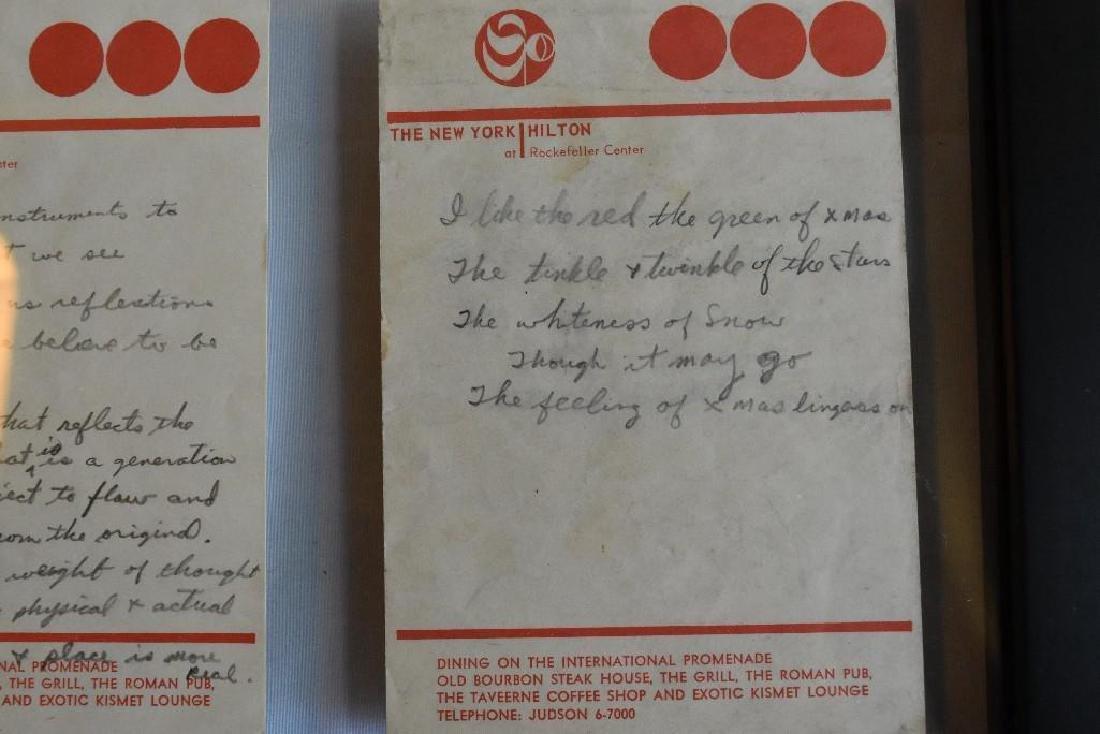 Hand Written Lyrics and Notations - 6
