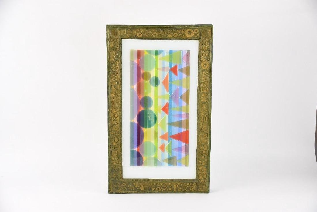 """Michael Higgins """"The War Between"""" Glass Wall Art"""