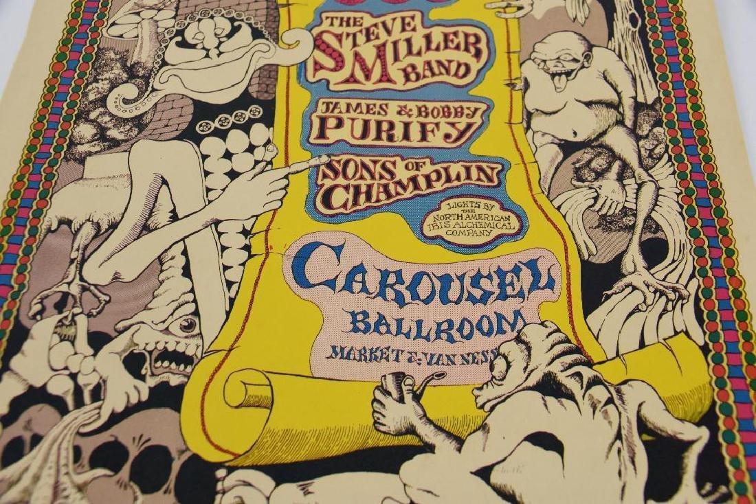 1968 Steve Miller Band Concert Poster