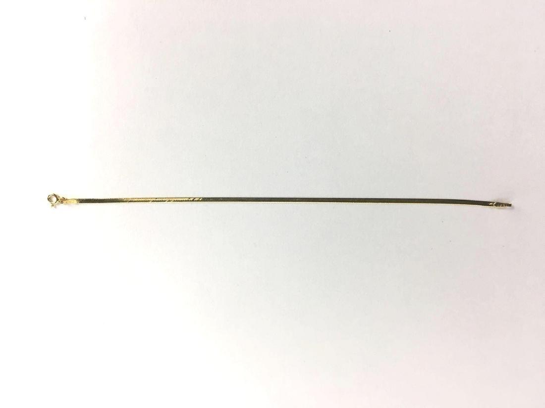 14k Yellow Gold Herringbone Bracelet - 2