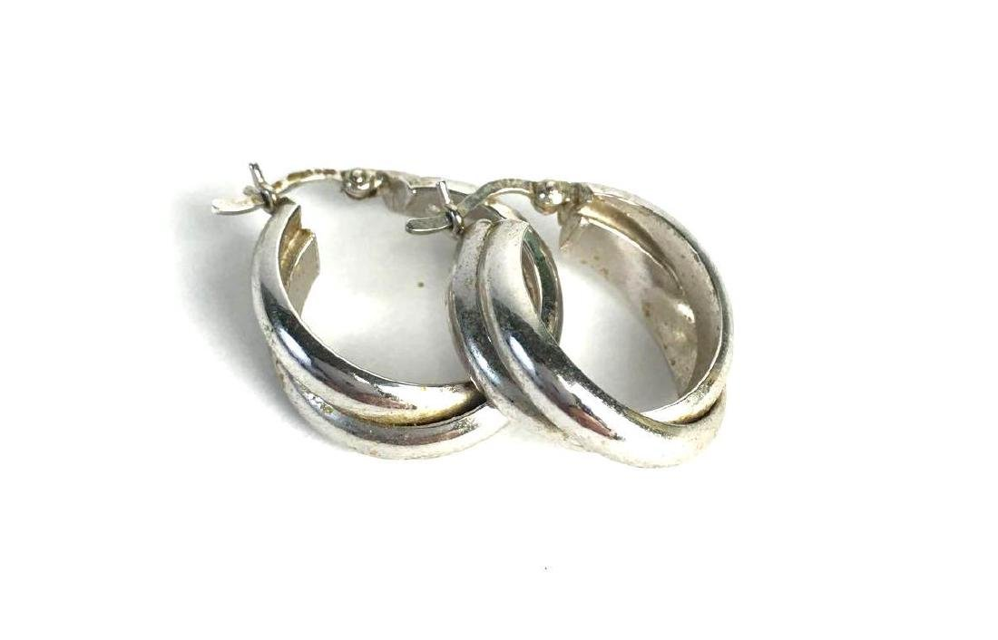 Lot of 4 Sterling Silver Earring Pairs - 4