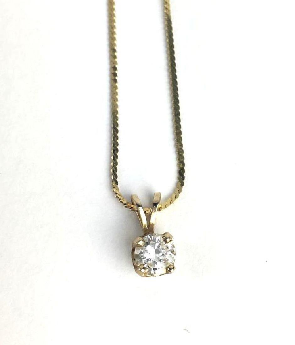 14k Yellow Gold Necklace and Stud Set