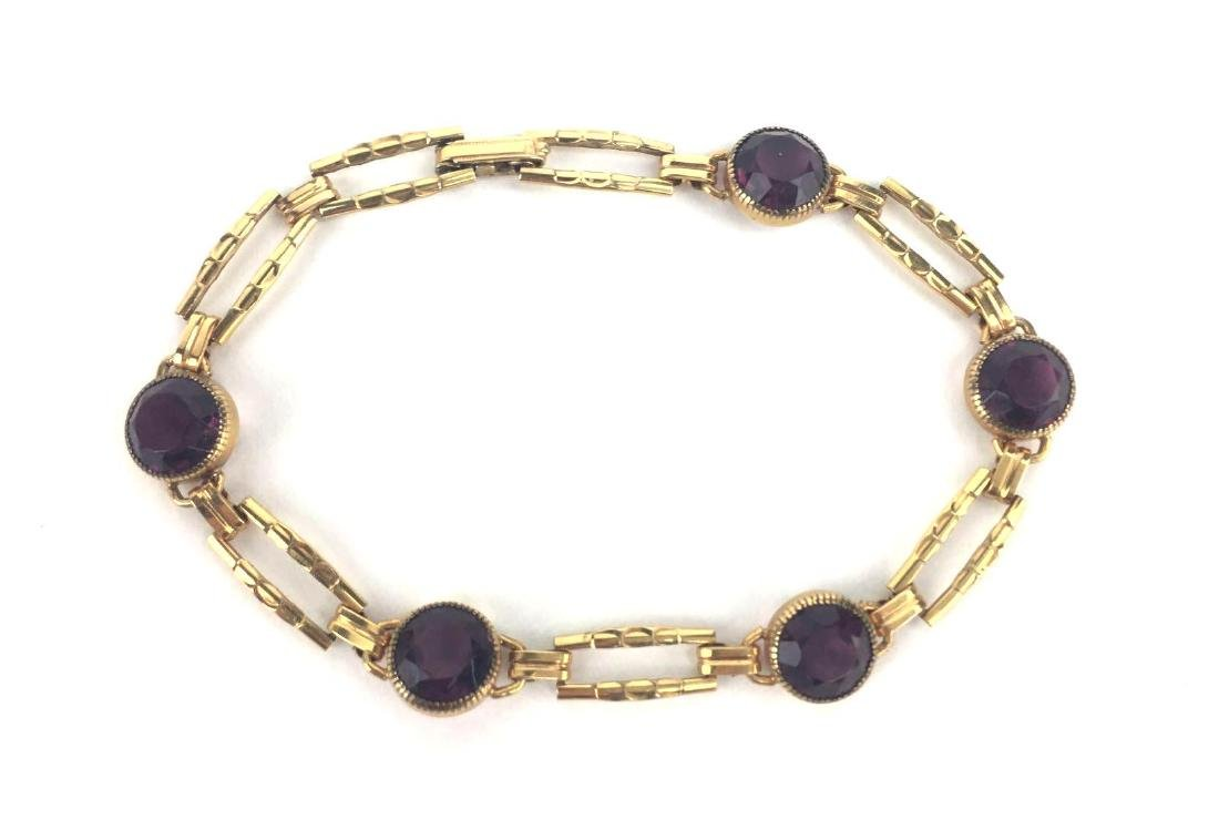 Gold Filled Vintage Simmons Link Bracelet - - 3