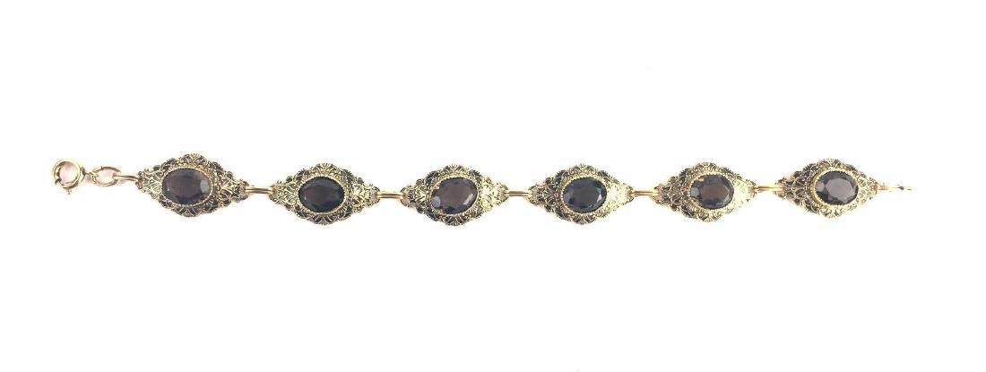 Vintage Gold Filled Diamond Shaped Link Bracelet