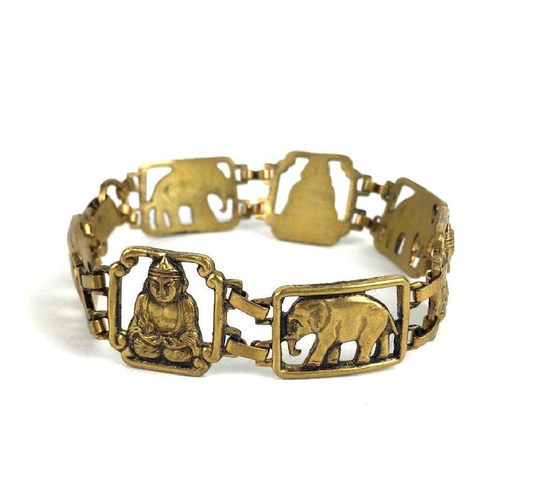 Vintage Indian Brass Link Bracelet