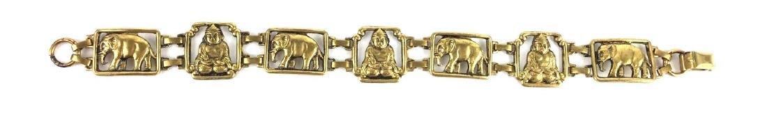 Vintage Indian Brass Link Bracelet - 2