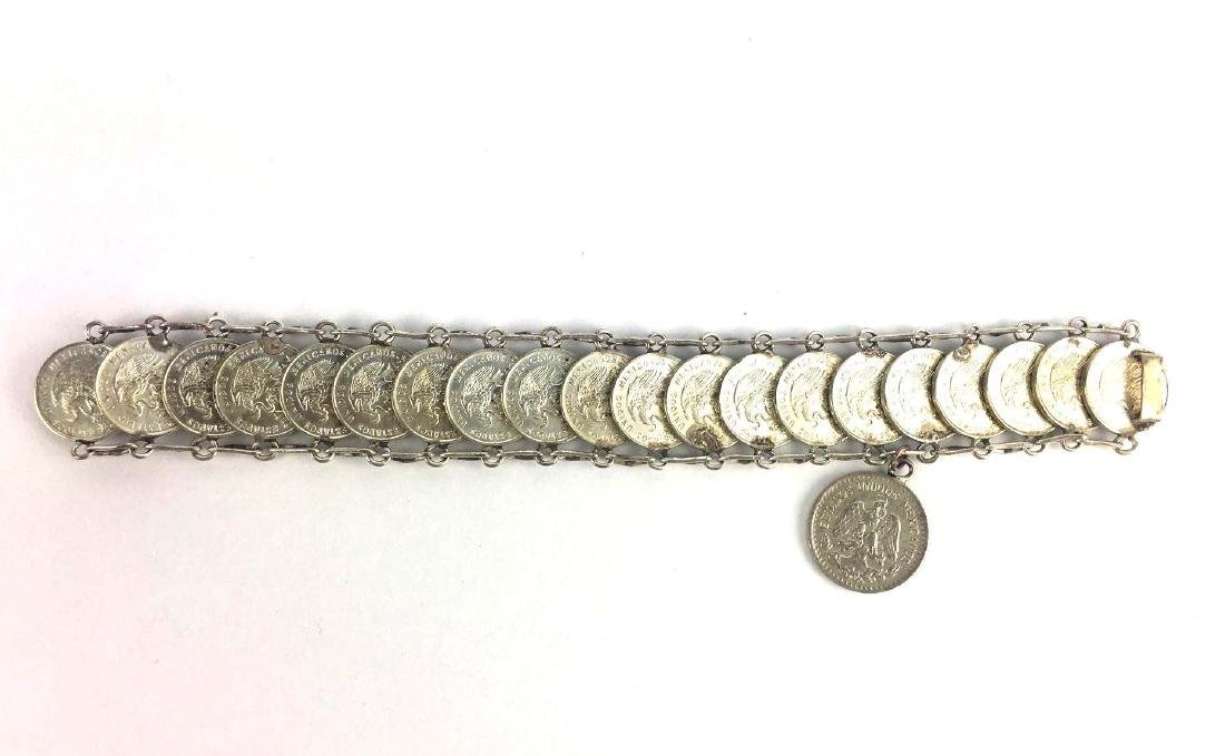 Vintage Mexican Coin Bracelet