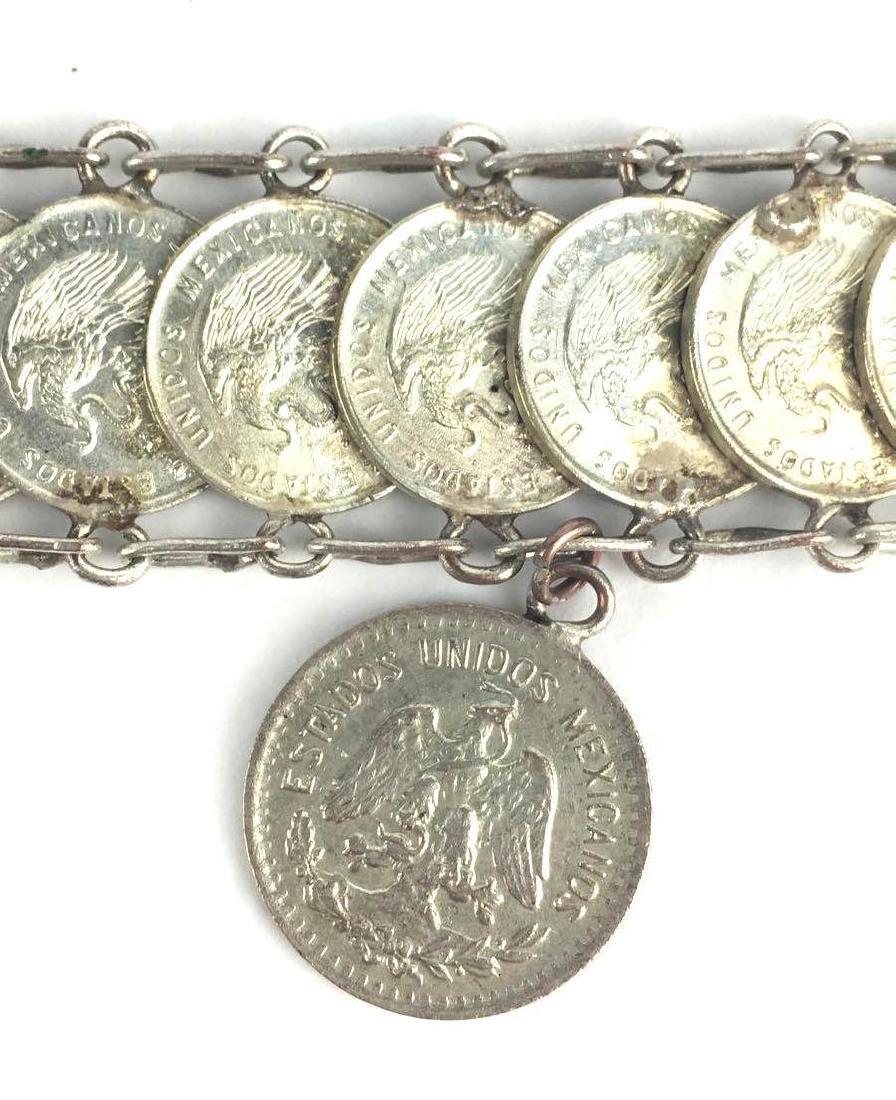 Vintage Mexican Coin Bracelet - 2