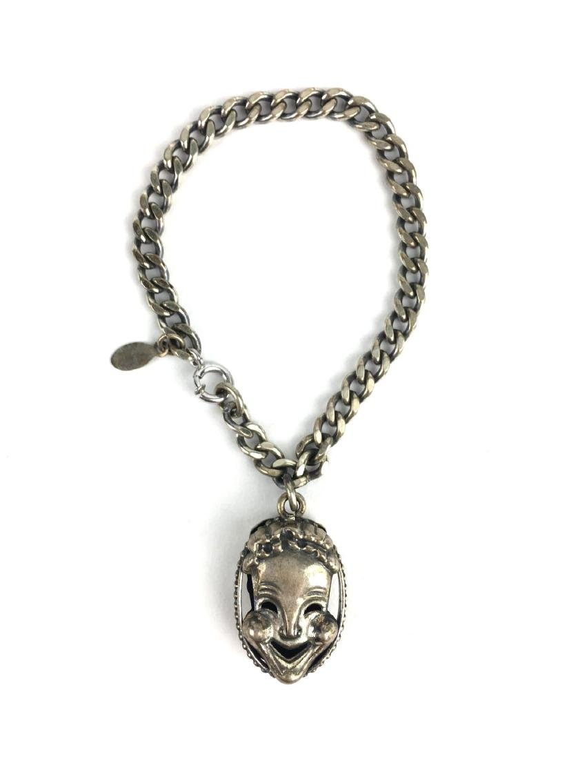 Danecraft Sterling Silver Theater Mask Bracelet