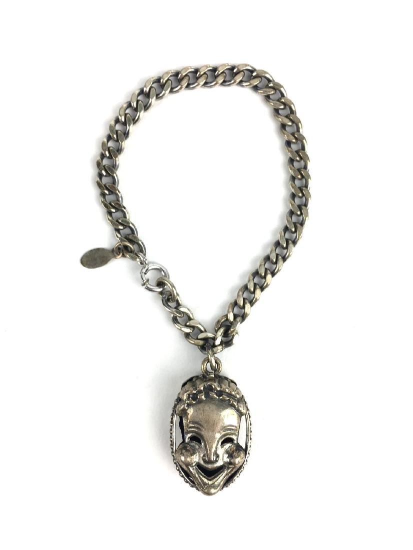Danecraft Sterling Silver Theater Mask Bracelet