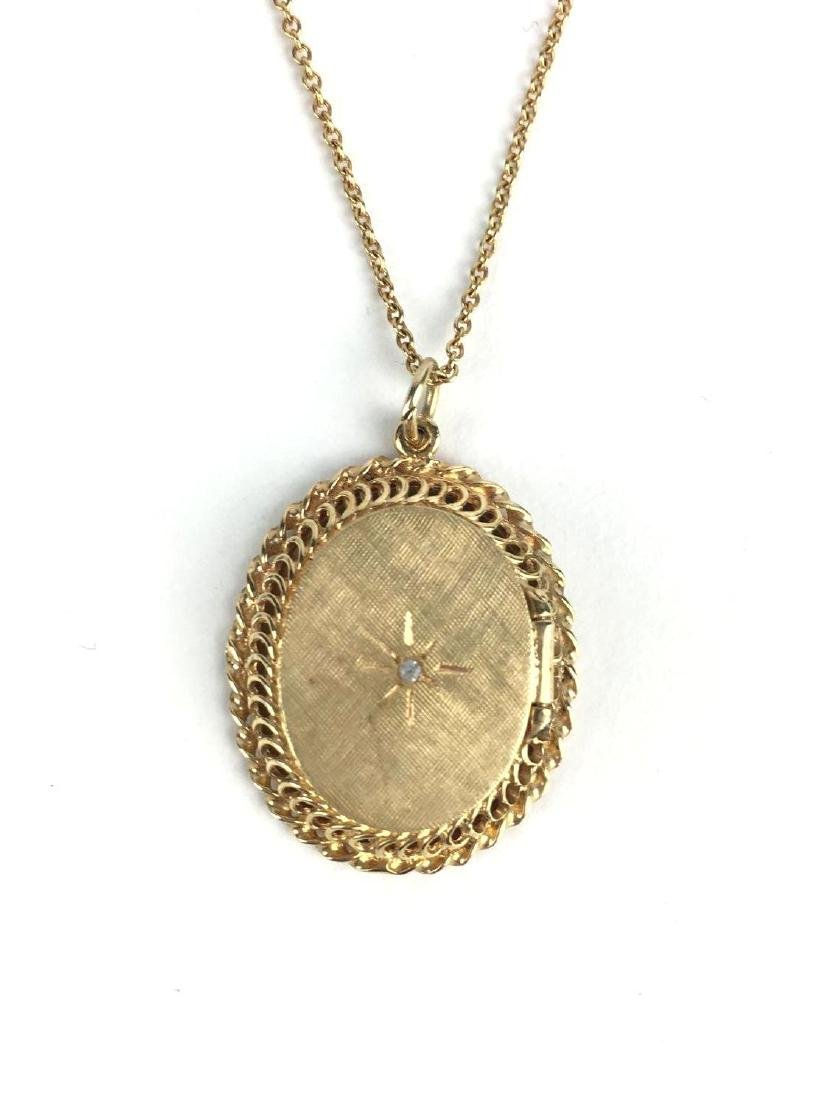 14k Gold Filigree Locket