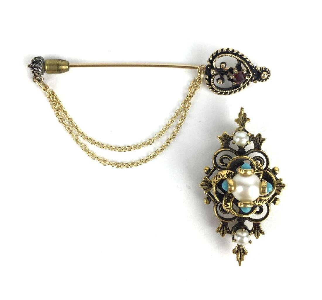 Vintage Brooch and Stick Pin
