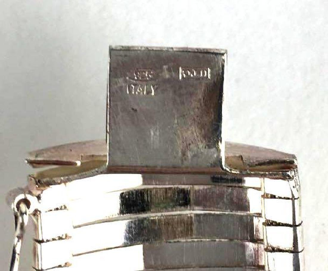 Sterling Silver Graved Star Bracelet - 3