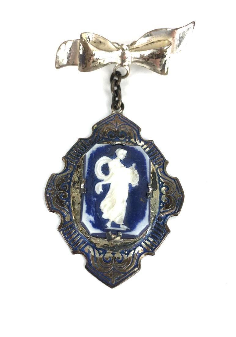 Sterling Silver Angel Cameo Pin