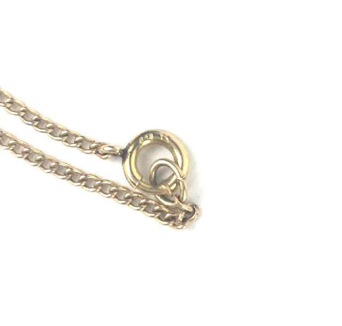 Vintage 10k Gold Filigree Necklace - 3