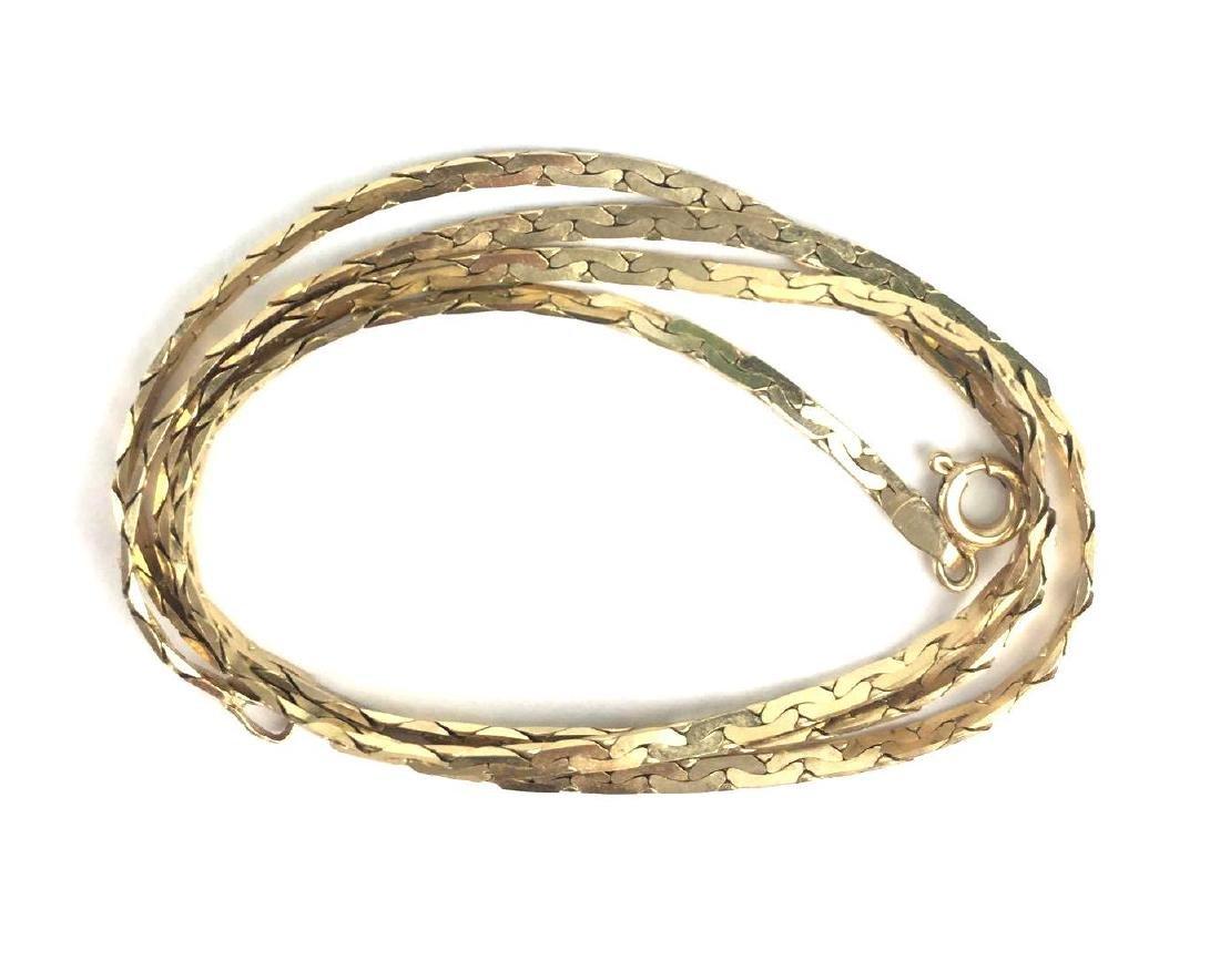14K Gold Serpentine Chain