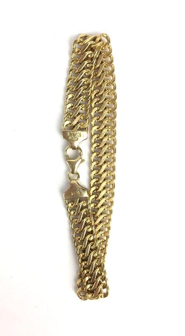 14k Gold Italian Chain Bracelet