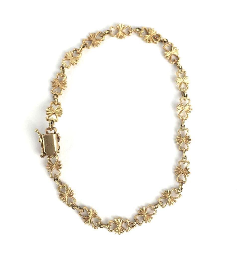 14k Bow Link Bracelet