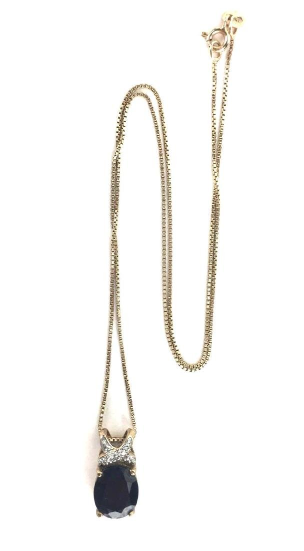 Sterling Silver Gold Toned Pendant Necklace