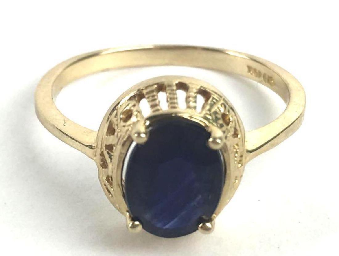 10k Gold Filigree Prong Set Ring