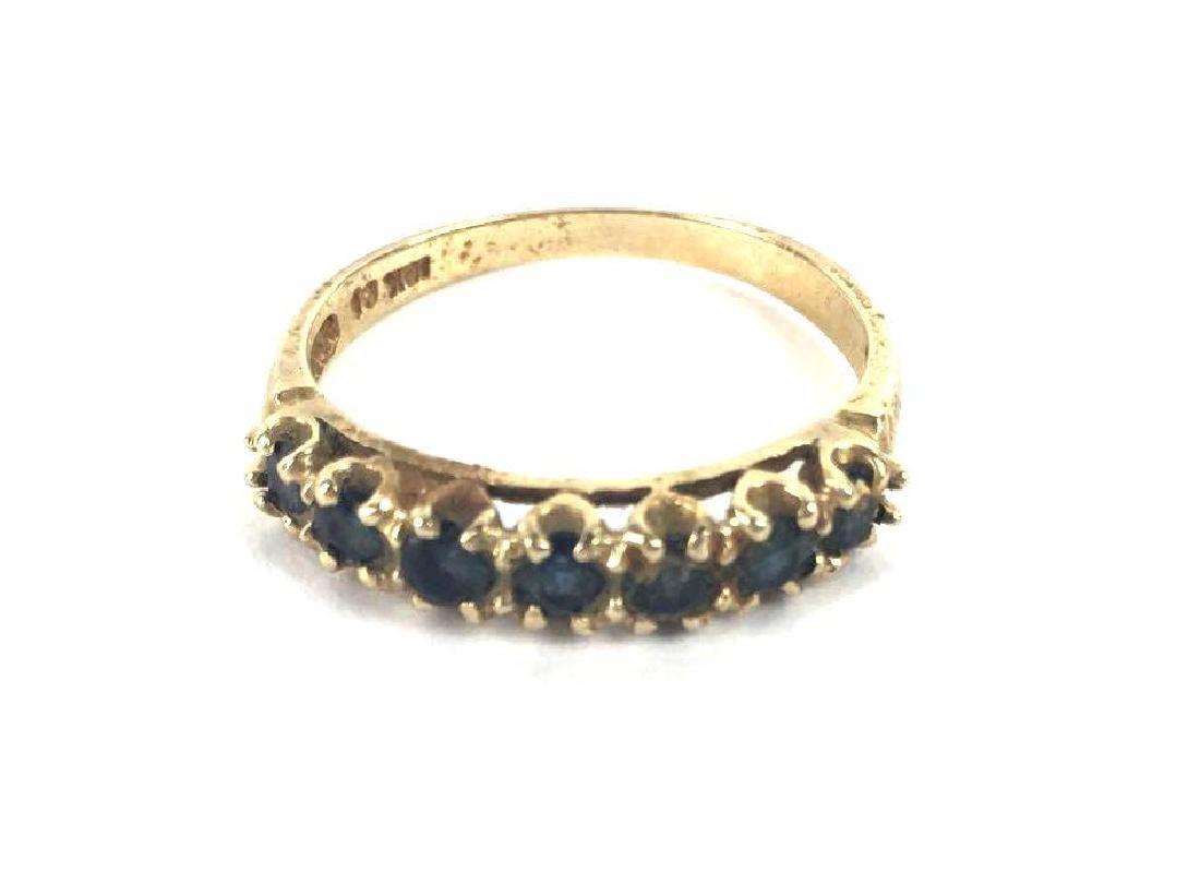 10k Gold Single Row Prong Set Ring