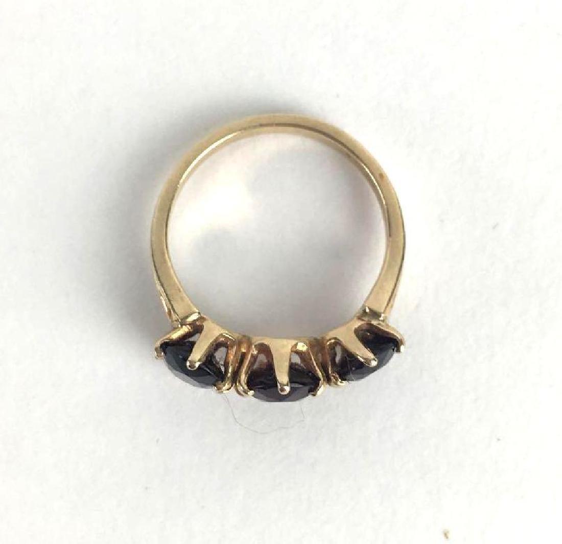 14k Gold 3 Stone Prong Set Ring - 2