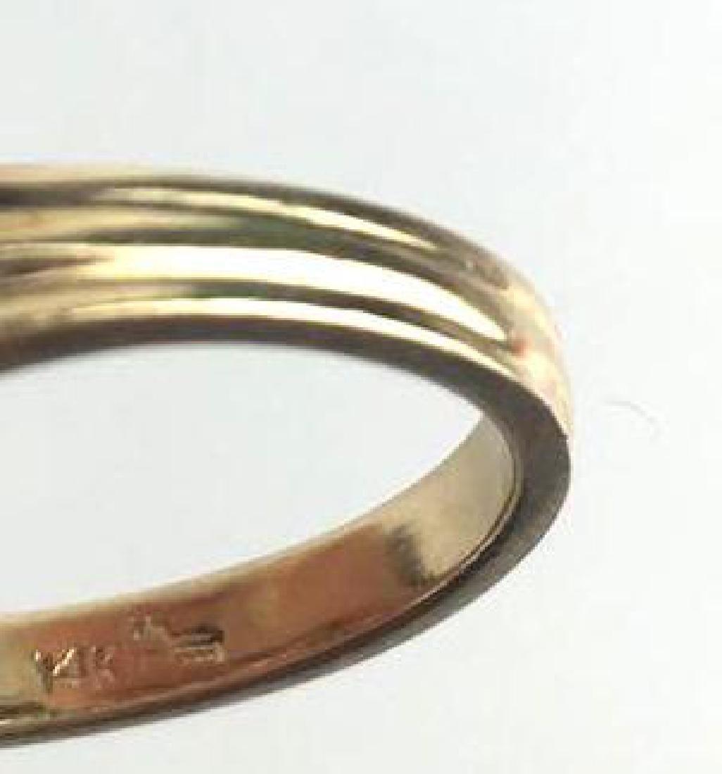 14k Gold 3 Stone Prong Set Ring - 3