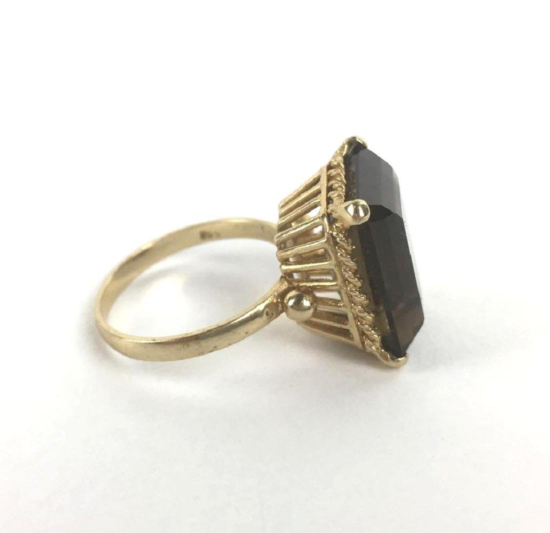 18k Gold Emerald Cut Ring