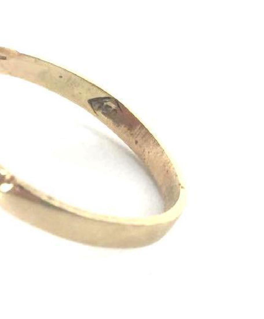 18k Gold Fleur De Lis Cameo Ring - 5