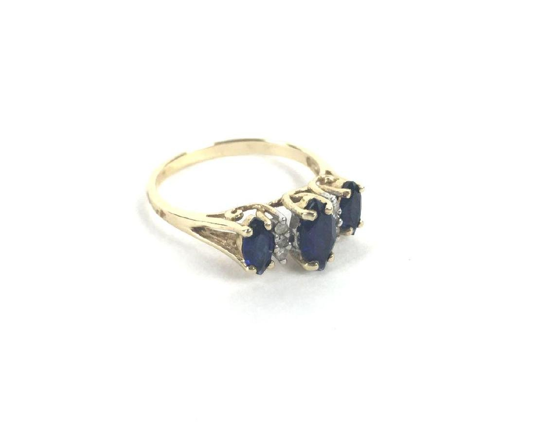 10k Gold Marquise Cut Ring
