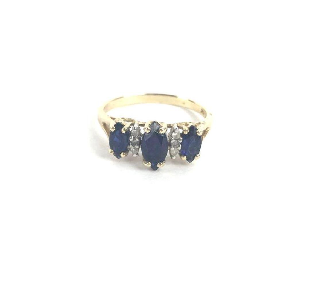 10k Gold Marquise Cut Ring - 2