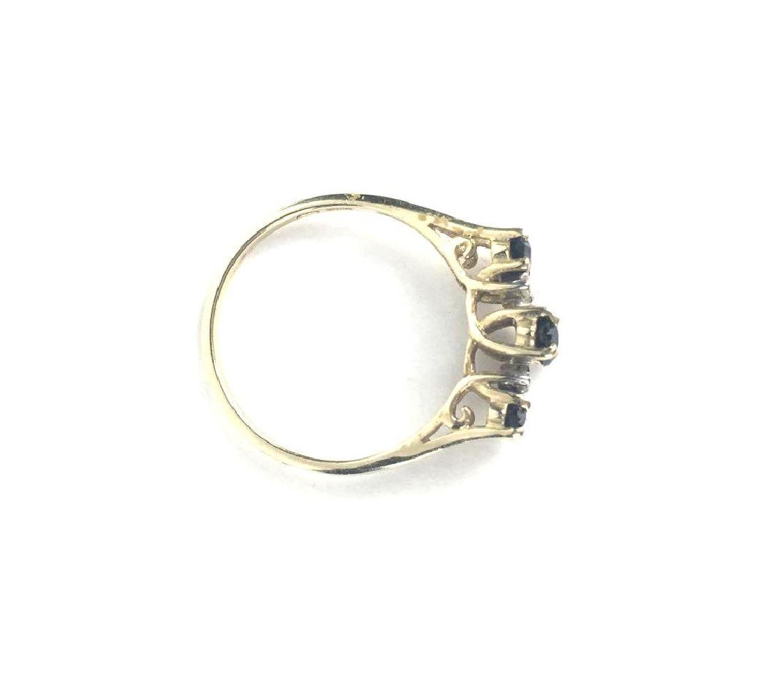 10k Gold Marquise Cut Ring - 4