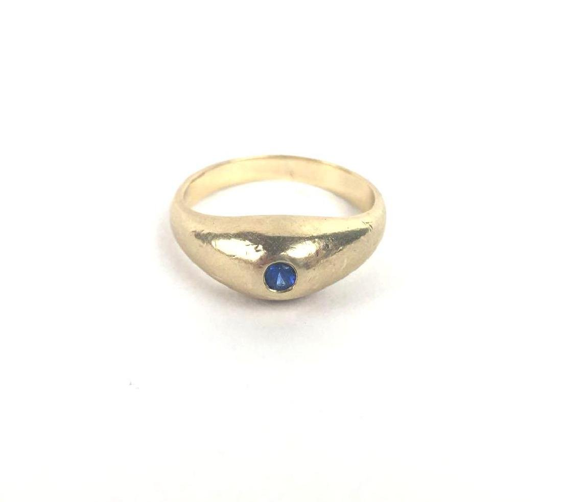 Vintage 14k Gold Cabochon Band Ring
