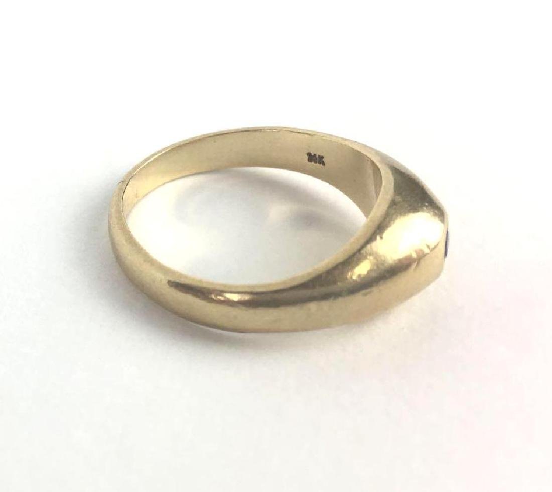 Vintage 14k Gold Cabochon Band Ring - 2