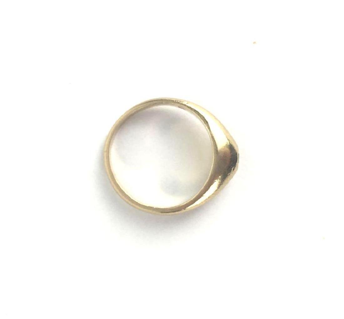 Vintage 14k Gold Cabochon Band Ring - 4