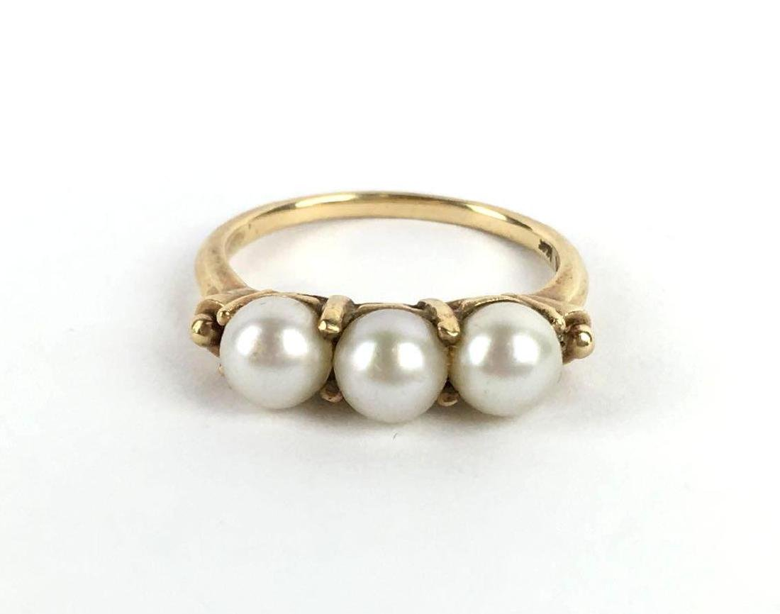 Vintage 14k Gold Pearl Ring