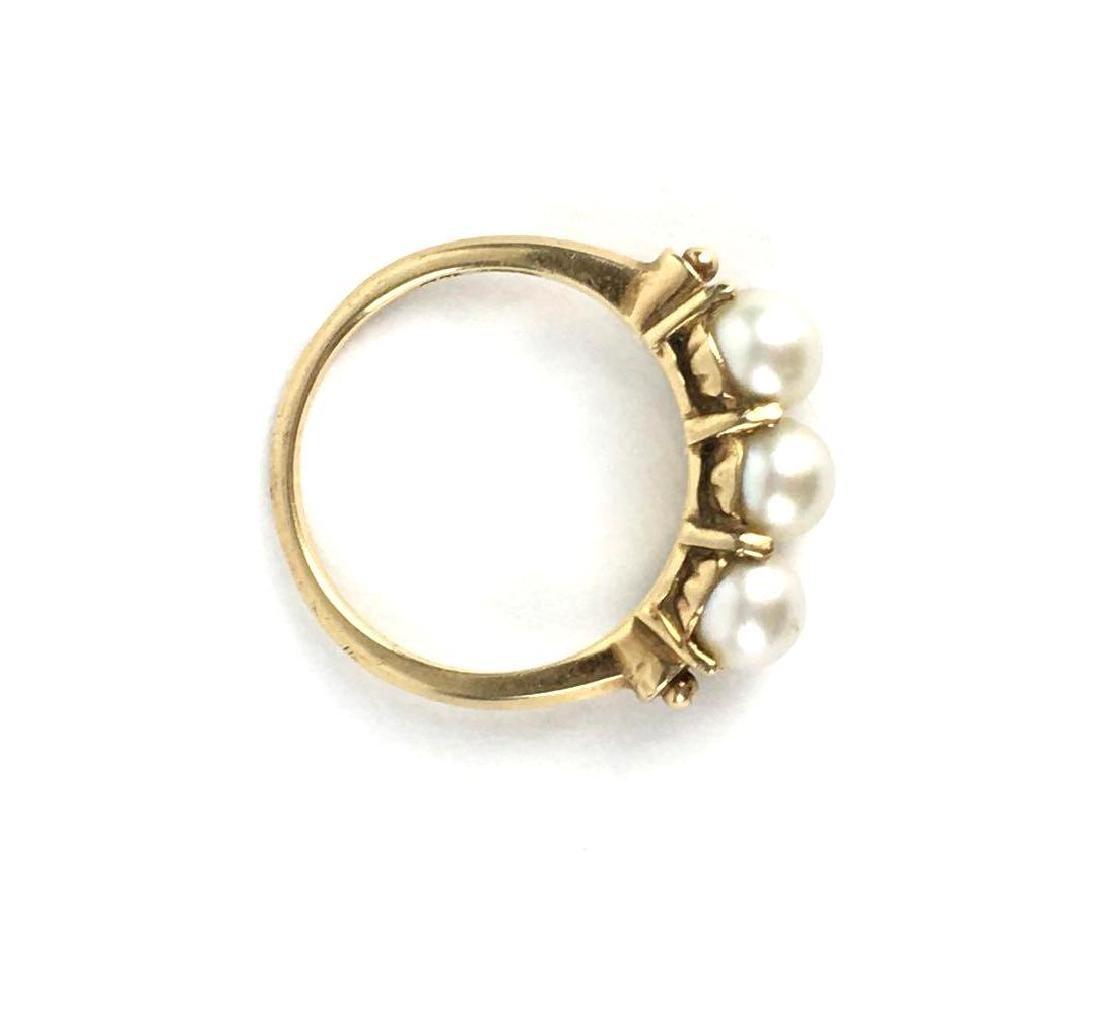 Vintage 14k Gold Pearl Ring - 2